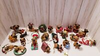 Danbury Mint Complete Set of 24 Pugs and Kisses Dog Ornaments with Tags