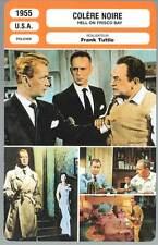 FICHE CINEMA : COLERE NOIRE - Ladd,Robinson,Dru,Tuttle 1955 - Hell on Frisco Bay