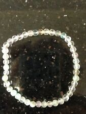 Fluorite Bracelet 4mm Round Beads Faceted Crystal Aus Seller
