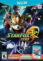 NEW Star Fox Zero (Nintendo Wii U, 2016) Bonus StarFox Guard Included