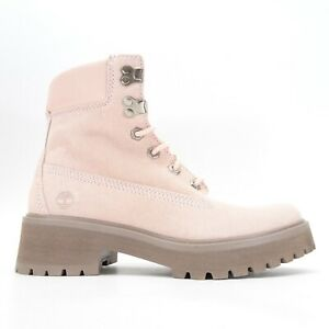 New Timberland Womens Carnaby Cool Light Pink Leather 6-In Winter Boots US 7-8.5