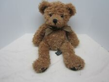 Russ Berrie & Co Teddy Bear Wembly Brown Shaggy 13.5""