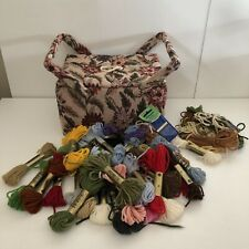 Floral Tapestry Sewing Box with handles plus Anchor Skeins Tapestry Wool Laine