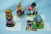 4 Figuren Franklin Porzellan Kinder der UNO 1981 Maria Jennifer Mei-Mei + Albert