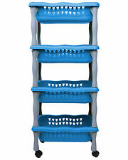 Ondis24 Rollwagen Korbwagen Schreibtischwagen Beistellwagen Badwagen beng blau