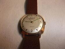 original DDR GUB Glashütte Uhr Herren Armbanduhr Spezimatic 26 Rubis vergoldet