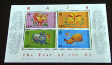 Hong Kong 1997 Zodiac Series 2 - Ox stamp MS MNH