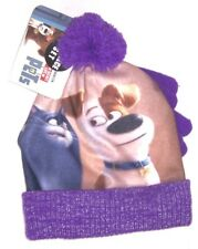 Secret Life Of Pets Girl's Winter Hat and Gloves Set. Nwt Osfm Purple & Pink