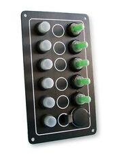 Schaltpaneel mit 4 Schalter 1 Taster Steckdose wasserdicht