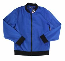 Kenneth Cole Mens Jacket Blue Size 2XL Full-Zip Tech Mesh Bomber $139 058