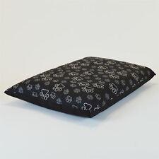 Medium Size Dog Bed - Washable cover Clearance - Multi Paws (Black Medium)