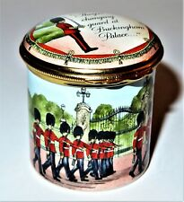 Halcyon Days Enamel Box - Changing Of The Guard At Buckingham Palace - London