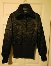 Liu Jo Tall Collar Zip Up Front Quilted Jacket US Size Small, Italy Size 40