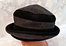 73614c46178ee GERMANY-AUTHENTIC MAYSER BLACK GRAY WOMEN S BUCKET HAT-US7 1 4 EU