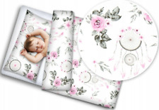 BABY BEDDING SET 120x90 PILLOWCASE DUVET COVER 2PC FIT COT Dream Catcher White