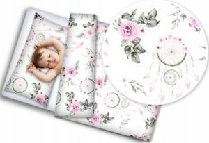 BABY BEDDING SET 120x90 PILLOWCASE DUVET COVER 2PC FIT COT Dream Catcher White
