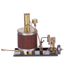 High Precision Mini Metal Steam Engine Model with Boiler and Base Set