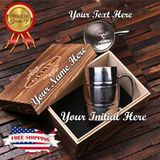 PERSONALIZED Stainless Steel BEER MUG 14OZ  Wood Box Best men Father's Day Gift