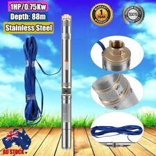 1HP Submersible Bore Water Pump Well Irrigation Stainless Steel 240V 0.75KW OZ