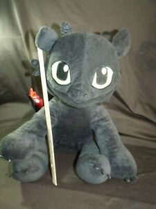 Build-A-Bear TOOTHLESS Plush w/ RED TAIL How to train your dragon stuffed animal