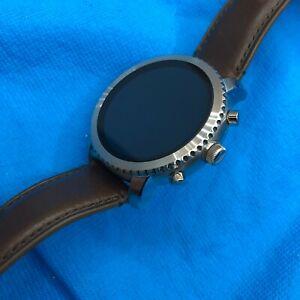 Fossil Smartwatch Q Explorist DW4A - Silver Case Brown Leather ⚡✈️ SHIPS SAME DA