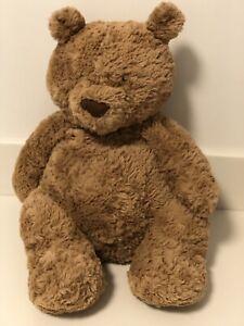 "Jellycat London Brown Bartholomew Teddy Bear Soft Fluffy Plush Toy 19"" EUC"