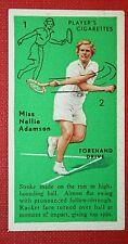 Women's Tennis Technique  Forehand Drive  Nelly Adamson    Original 1930's Card