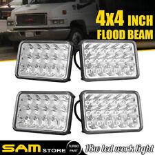 "4PCS 4X6"" INCH 45W Hi/Lo beam LED Headlight Fit GMC C4500 Chevrolet C5500 Kodiak"