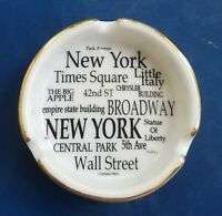 Vintage New York City Porcelain Ashtray. City Merchandise. Worlds Great Souvenir