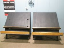 """""""Cms"""" Lot Of (2) Heavy Duty Commercial Mobile Wooden Merchandising Display Rack"""