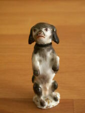 19TH CENTURY MEISSEN PORCELAIN HAND PAINTED BEGGING DOG SCENT BOTTLE