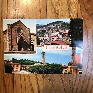 Vintage FIESOLE Monastery Of San Francisco California CA Postcard Picture Church