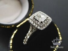 Excellent Princess Cut 1.50 Ct Diamond Engagement Ring White Gold Over