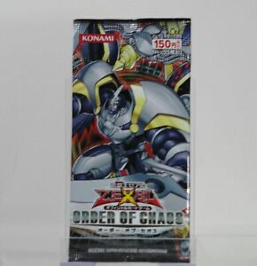 Yu-Gi-Oh! ZEXAL Order of Chaos Japanese Booster Pack   Brand New!