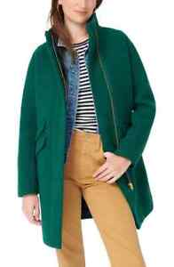 J.CREW NWT $365 Stadium Cloth Cocoon Coat Jacket Top in Forest Size 00 Petite