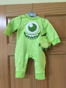 NWT Disney Store Monster INC Costume Romper and Hat Baby Many Sizes