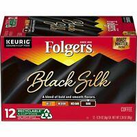 Folgers Black Silk Coffee K-cup PodsKeurig Brewers