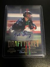 2011 JAKE LOWERY PLAYOFF CONTENDERS DRAFT TICKET ROOKIE AUTO #29 INDIANS
