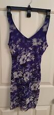 Jean Paul Gaultier Soleil FUZZI, Blue, White Floral Dress U.S. Size 2-4