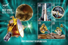 GHANA - 2015 - SPACE ANNIVERSARIES NEW HORIZONS SHEET OF 4 STAMPS  MNH