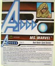 HeroClix - Ms. Marvel ID Card NFID-003 - Nick Fury, Agent of S.H.I.E.L.D.