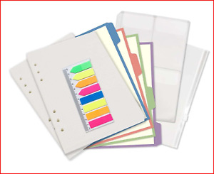 A5 6-Ring Binder/Planner Inserts and Accessories for Filofax, 100 Sheets Dotted