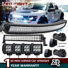 """52Inch Curved LED Light Bar+22 inch+4"""" CREE PODS OFFROAD SUV 4WD UTV VS 50/42/20"""