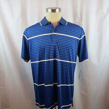 PGA Jack Nickalus  Men's Black Blue White stripe Golf Polo Shirt Size XL NWT