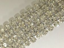 5 Row Rhinestone Ribbon Trim Banding Wedding Cake Decoration Flat Back - 1 YARD