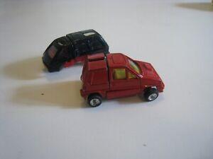 Pair 1980s Bandai Go-Bot Transformers Toy Robot Cars - Honda City