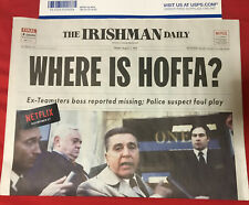Netflix The Irishman Daily Newspaper Jimmy Hoffa Al Pacino Robert De Niro NYC