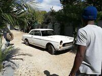 Classic 1966 Peugeot 404C Coupe restoration project car