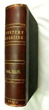 Century Magazine 1892 XLIV 6 issues in 1 VG HC - MELVILLE, KIPLING, ROOSEVELT &c