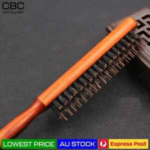 SALON COMB HAIR STYLE TEASING BRUSH WOODEN HANDLE BACK COMB NATURAL BOAR BRISTLE